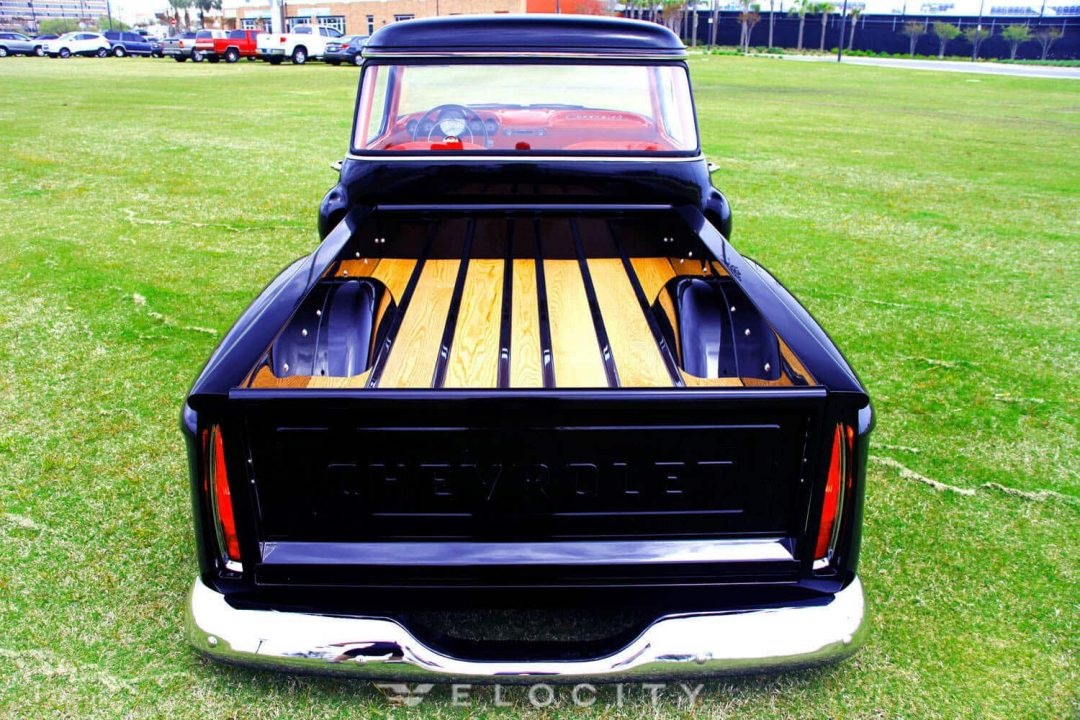 1956 Chevrolet 3100 rear view of bed