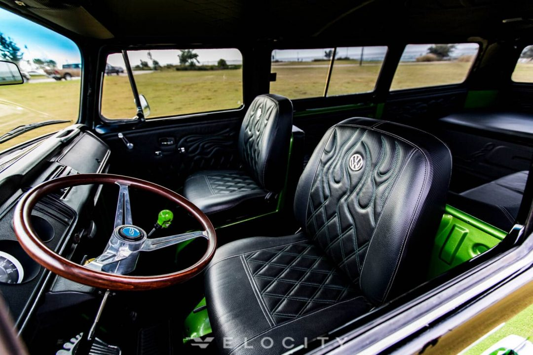 1969 VW Bus driver interior detail