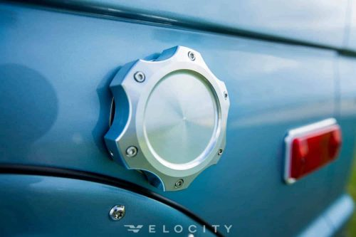 1974 Brittany Blue Classic Ford Bronco gas cap