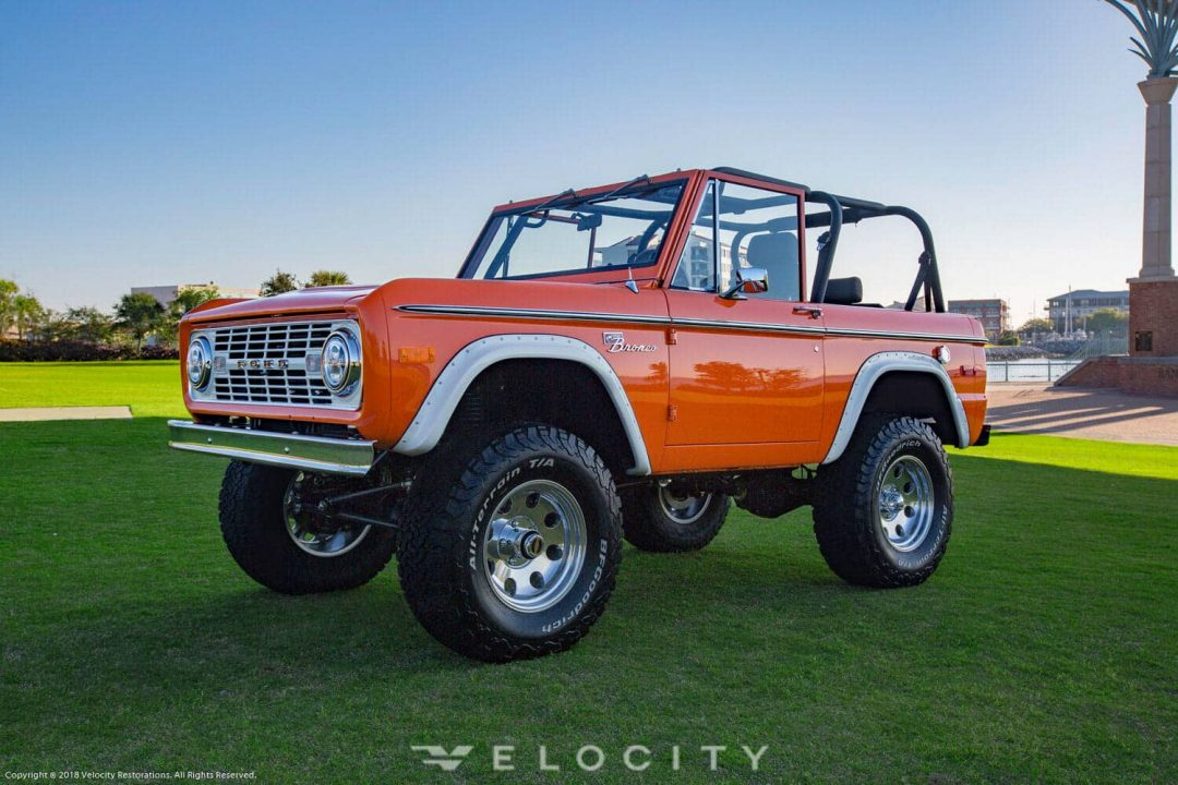 1974 Classic Ford Bronco Coyote Restoration driver front view