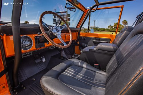 Classic Ford Bronco drivers side interior