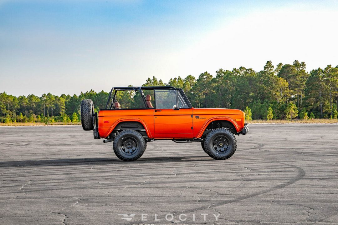 1975 Ford Bronco passenger side view