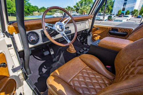 1974 Classic Ford Bronco leather interior