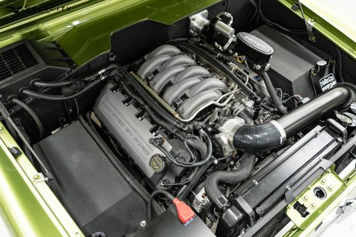 Classic Ford Bronco engine compartment