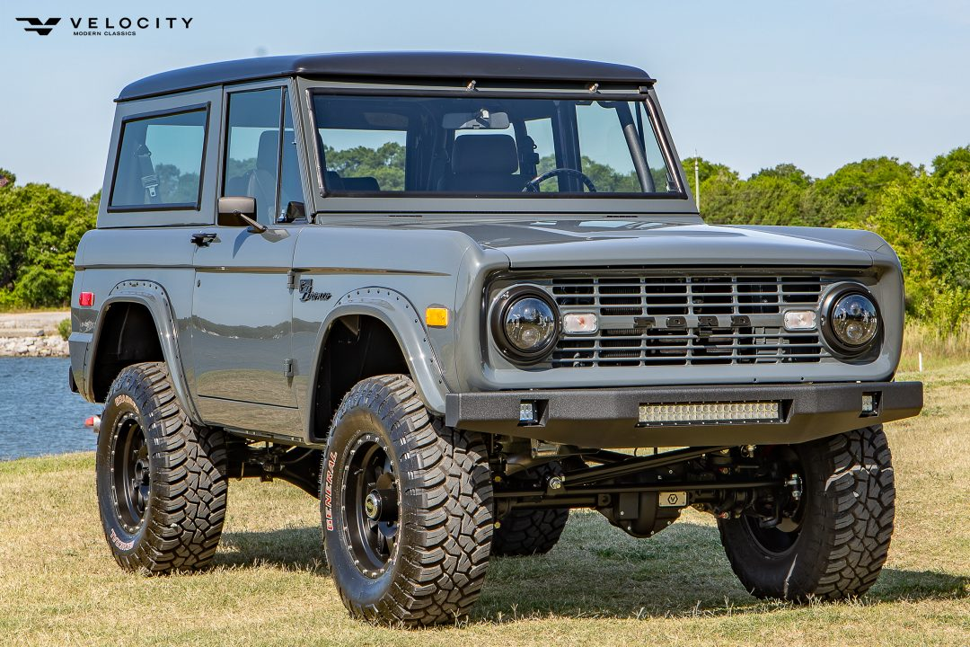 Classic Ford Bronco front Passenger side