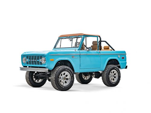 Classic Broncos front driver side door and fender