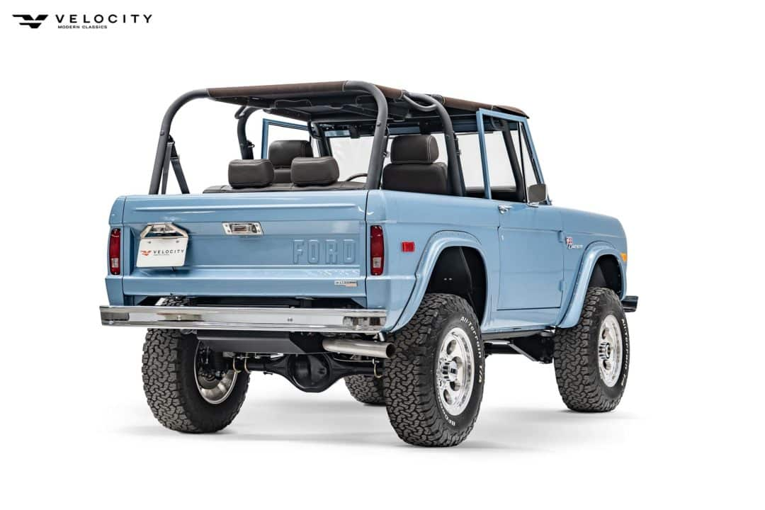 Classic Ford Bronco rear passenger side 3/4